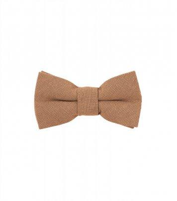 Solid Cinnamon brown kids bow tie