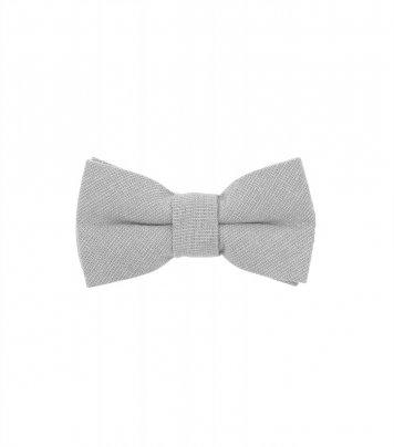 Solid Mist grey kids bow tie