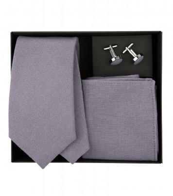 Mauve necktie set