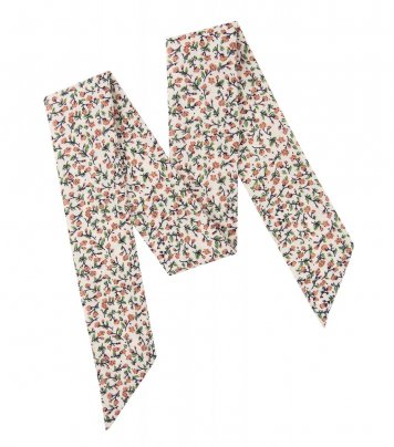 Cream and brown floral ladies bow