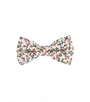Cream and brown kids bow tie