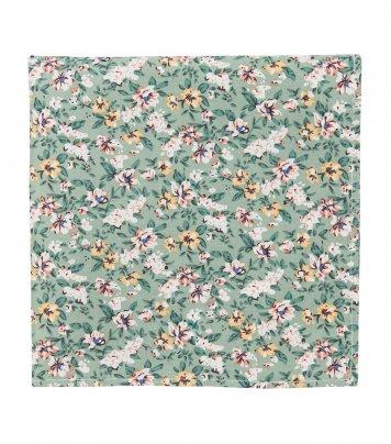 Sage green floral pocket square