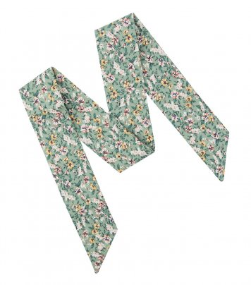 Sage green floral ladies bow