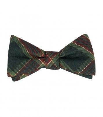 Christmas plaid self-tie bow tie