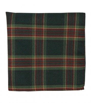 Christmas plaid pocket square