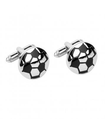 Soccer ball cufflinks
