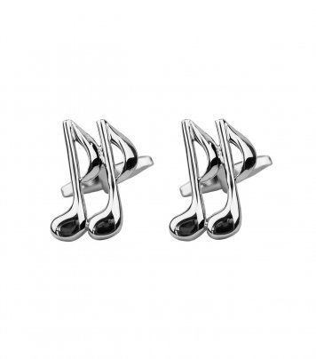 Music note cufflinks