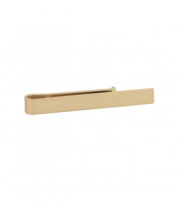 Slide clasp golden matte tie bar