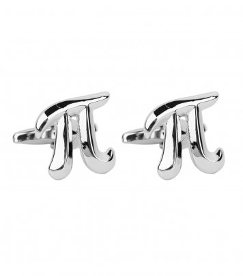 Pi math symbol cufflinks