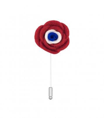 Red blue white felt lapel flower