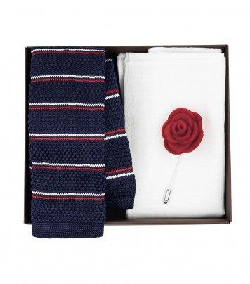 Tricolor necktie set