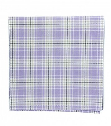 Lavender plaid pocket square