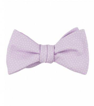 Lilac dots self-tie bow tie