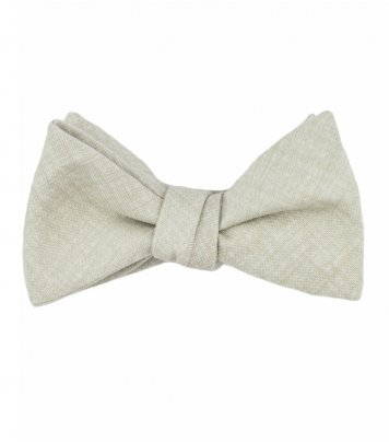 Taupe self tie self-tie bow tie