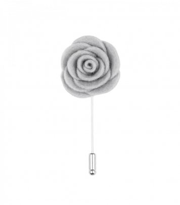 Grey felt lapel flower