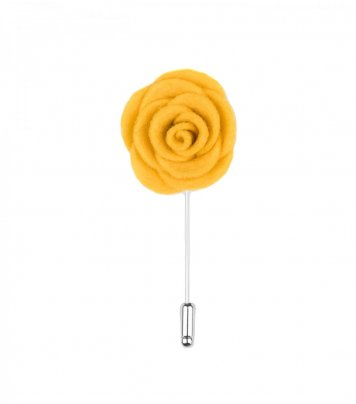 Yellow felt lapel flower