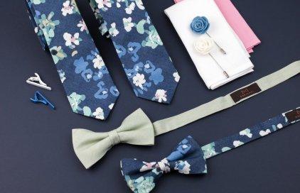 Květnová kolekce: Denim kravaty a motýlky