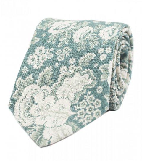Modrá kravata s ornamentem