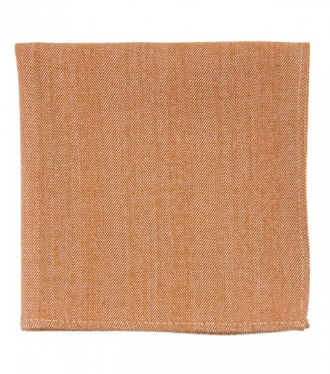 Oranžový kapesníček do saka rybí kost