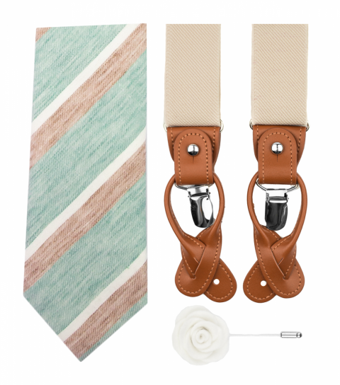 Mint pastel set with suspenders