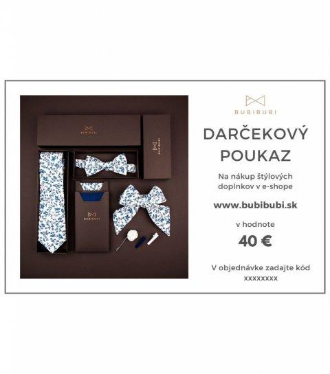 Darčekový poukaz SK 40 eur