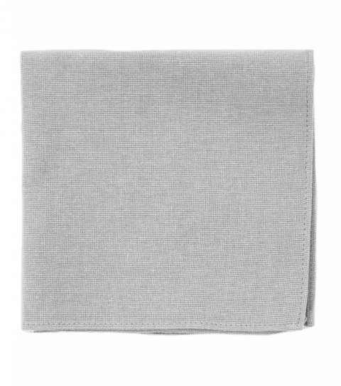 Solid Mist grey pocket square