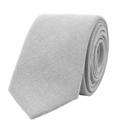 Solid Mist grey necktie