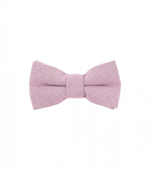 Solid Blush Pink kids bow tie