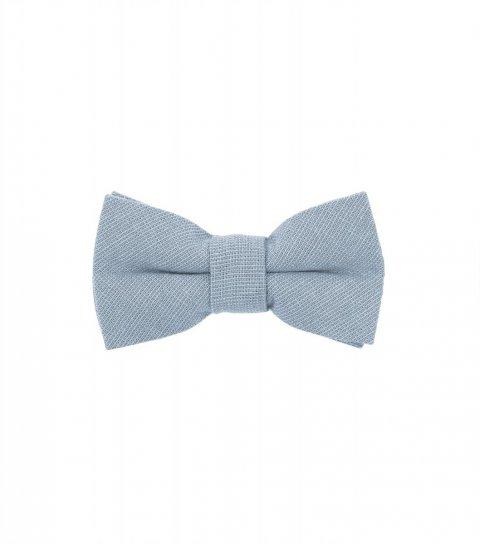 Solid Dusty Blue kids bow tie