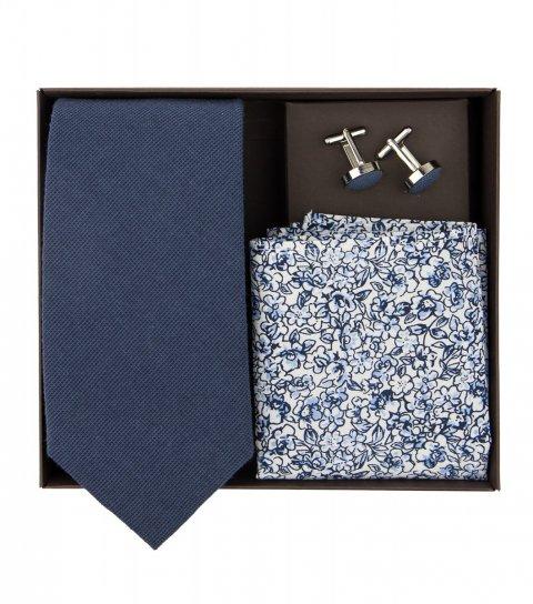 Tmavomodrá kravatová sada Navy