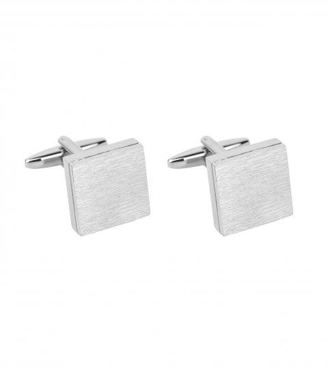 Manžetové knoflíčky stříbrný matný čtverec