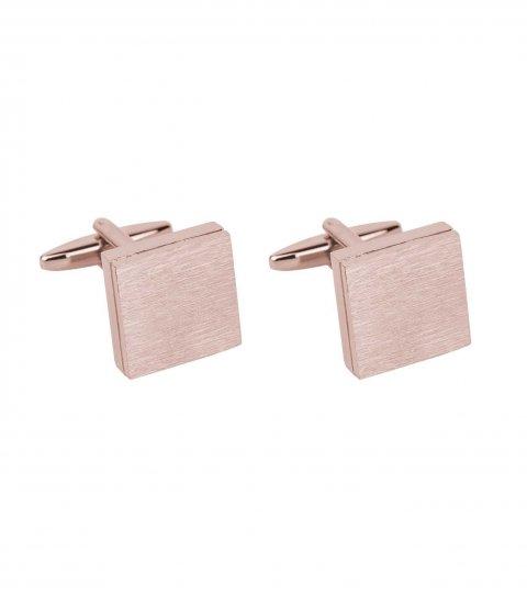 Manžetové knoflíčky růžovo-zlatý matný čtverec