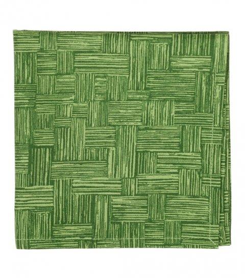 Zelený kapesníček do saka se vzorem