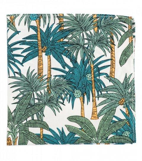 White green palms pocket square
