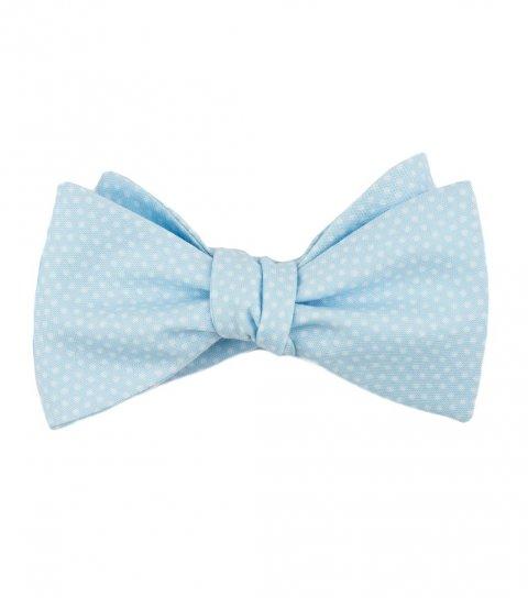 Blue dots self-tie bow tie