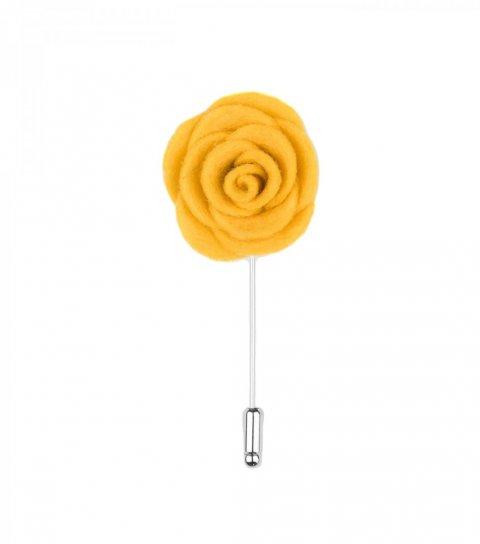 Žltá kvetina do klopy