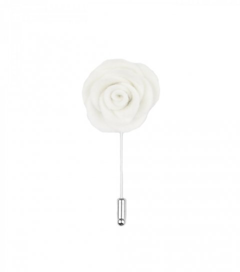White felt lapel flower