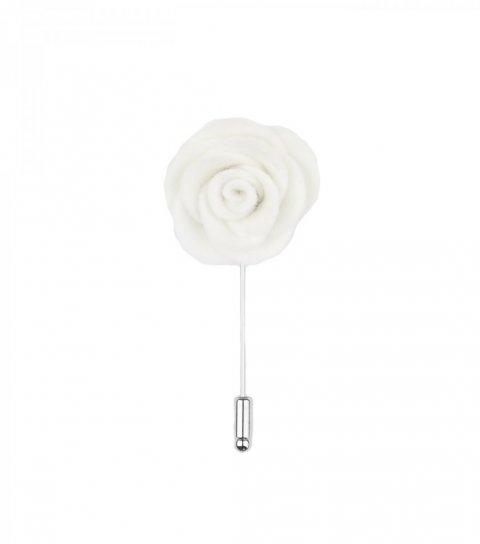 Biela kvetina do klopy