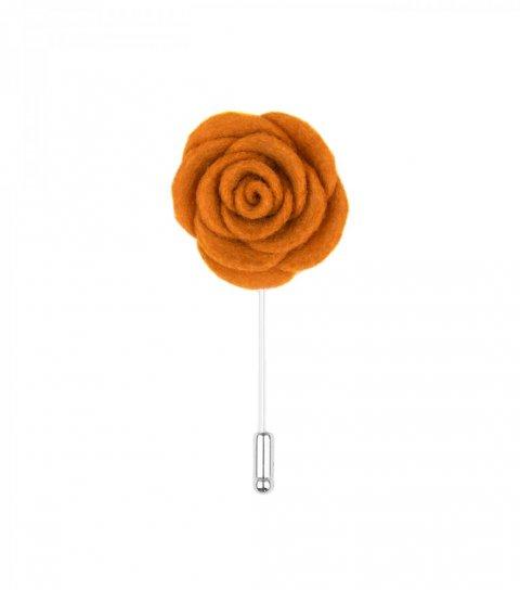 Oranžová kvetina do klopy