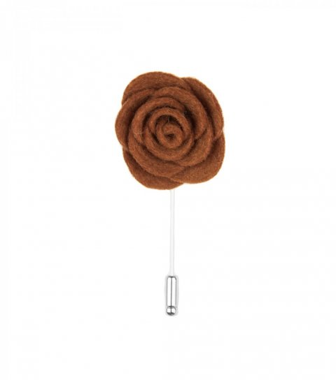 Brown felt lapel flower