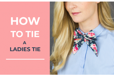 How to tie a ladies tie