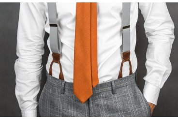 How to attach leather suspenders to your pants