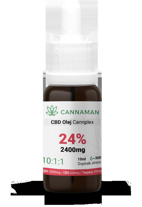 CBD/CBG 24% konopný olej Cannplex (2400mg) | 10ml