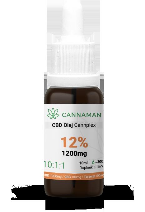 CBD/CBG 12% konopný olej Cannplex 12% (1200mg) | 10ml