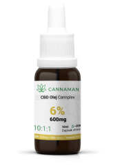 CBD/CBG 6% konopný olej Cannplex (600mg) | 10ml