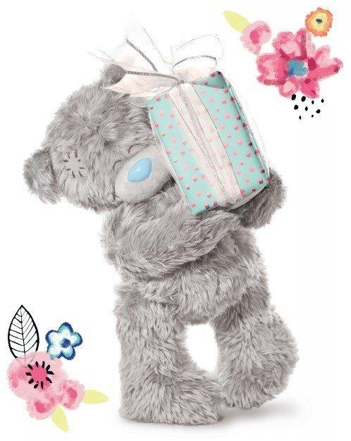 M - Medvídek držící dárek