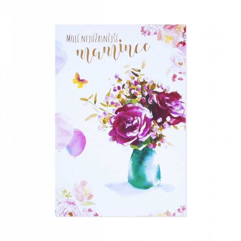 ALBI Akvarelové květy s motýlkem