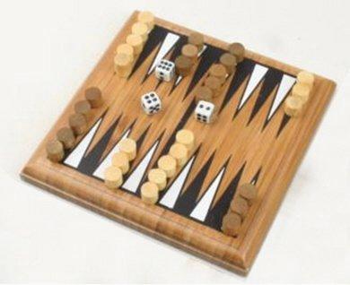 Mini bambus Backgammon