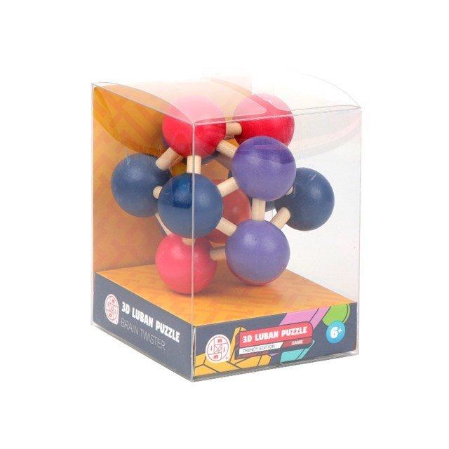 ALBI Dřevěný hlavolam - Molekula