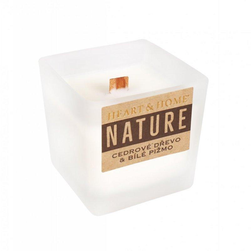 ALBI Malá svíčka - Cedrové dřevo a bílé pižmo